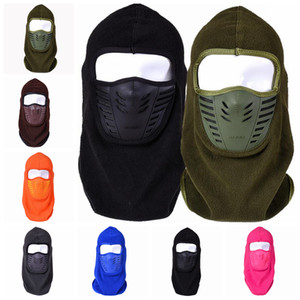Outdoor cycling masks hat polar fleece windproof caps warm winter neck mask face mask skiing facail mask hats CYF4571