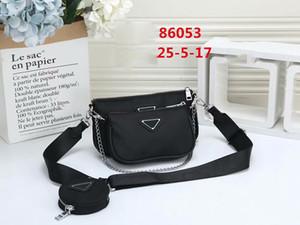 Pink sugao handbags women shoulder bag crossbody bag nylon 3pcs set fashion purse handbags 2021 new styles high quality chain bag