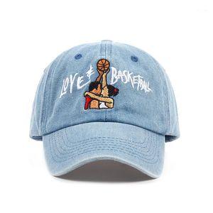 new cotton Dad Hats Love & Basketball Embroid Gorras Snapback sky blue black Baseball Cap Movie OG 90s Vtg Hip Hop Summer Hat1
