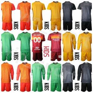 Bambini portiere come Roma Manica lunga Gioventù Antonio Mirante Jersey 83 Set 13 Pau Lopez Portiere GK GK Bambini Camicia da calcio Kit