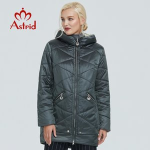 Astrid winter jacket women Contrast color Waterproof fabric with cap design thick cotton clothing warm women parka AM-2090 201119