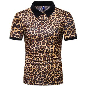 T-shirt da uomo a manica corta da uomo con stampa leopardata da uomo