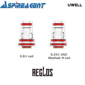 -Bueno Aeglos sustitución de la bobina 0.8ohm (MTL) 0.23ohm (DL) UN2 Meshed-H de la bobina para el kit de Sistema de Pod Aeglos 4Pcs / paquete original del 100%