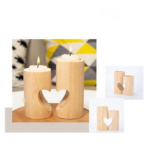 Wooden Tea Light Candle Holder Heart Hollowed-out Candlestick Romantic Table Decoration For Home Birthday Party We jllPyV sinabag