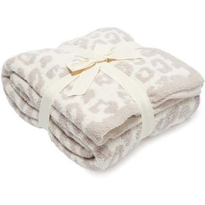 BAREFOOT DREAMES Decke Top Verkauf super weich 100% Polyester Mikrofaserfeder Garn Leopard Zebra Jacquard Strickwurfdecke