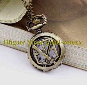 Women's Men Pocket Watch Necklace Accessories Sweater Chain Ladies Hanging Mens Mirror Sports Bronze Watches AA00151