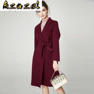 Woman Jacket Winter Women Wool Coat Female Cashmere Womens Coats and Jackets Korean Veste Femme Fsz-19010 WPY682