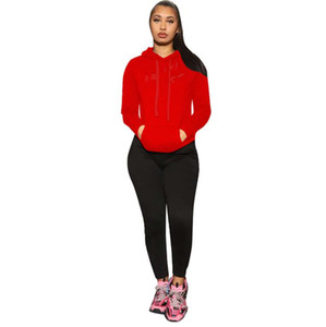 Sweatpants Womens Joggers Set Plain Logo 2 Piece Crop Top Tracksuit Sets Women Sweat Pants Set Fall Two Piece Jogger with Hoodie