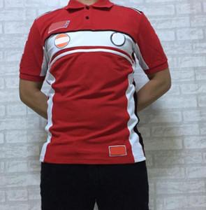 Camiseta de carreras Camisa de polo corta T Shirt T Shirt Camisa cultural de la motocicleta Montar a caballo camiseta de solapa de manga corta