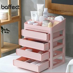 Baffect colorido Multi-capa Maquillaje Maquillaje Caja de almacenamiento Joyería Contenedor Maquillaje Funda Organizador Cajas de Oficina Cosmética Y1116
