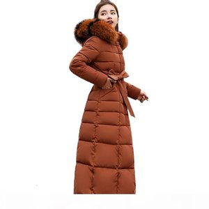 X-Long 2019 New Arrival Fashion Slim Women Winter Jacket Cotton Padded Warm Thicken Ladies Coat Long Coats Parka Womens Jackets V191209