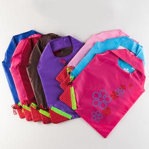 Portable Handbag Strawberry Foldable Shopping Bags Reusable Creativity Grocery Nylon Large Bag Eco Friendly Shopping Bag Mixed Colors