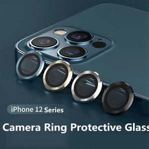 IPhone 12 Pro Max Metal Yüzük Cam Tam Kapak Kamera Lens Koruyucular iPhone 11 11Pro Max Koruyucu Kap