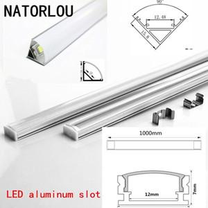 Tira de alumínio LED de alumínio LED tira 50505730, poste de lâmpada resistente, caixa de alumínio e capa final, 10-20 peças, DHL, 1m