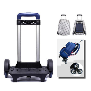 Sol Ocho niño Trolley Mochila bolsa de ruedas bolsa de la escuela Equipaje para niños 6 ruedas Rodillo expandible Función alta Trolly Y200107
