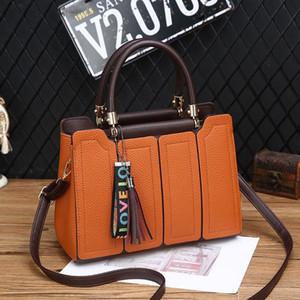 High quality fashion lady lady's handbag women's shoulder bag women's wear bag exquisite Handbag Splicing