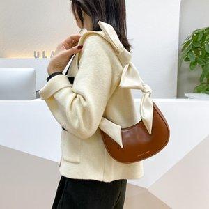 Jugend Damen Einfache Vielseitige Tasche Treffer Farbe Leder Umhängetasche Frauen Retro Hobos Totes Weibliche Schleife Handtaschen