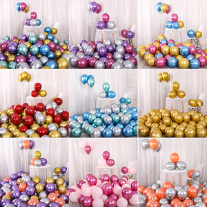 12inch Glossy Metal Pearl Latex Balloons Thick Chrome Metallic Colors Inflatable Air Balls Globos Birthday Party Decoration Kimter-L911FA