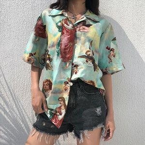 print blouses women funny oversized shirt short sleeve streetwear tops for women summer clothes Drop Shipping