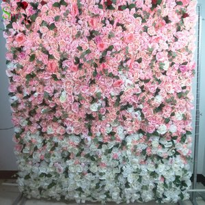 SPR Ombre style pink 2.4*2.4m Free Shipping 10pcs lot yiwu factory flower wall wedding backdrop artificial arrangements