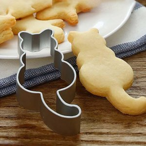 Cat Shaped Aluminium Mold Sugarcraft Cake Cookies Pastry Baking Cutter Mould Metal hollow cutting mold kitchen accessories