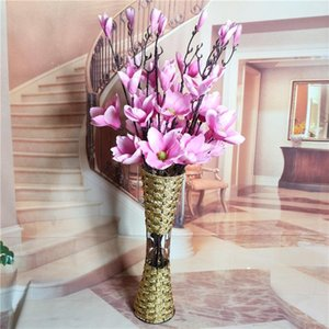 Artificial flowers sitting room ground decorative flower art flower arranging household decoration Long branch magnolia flower wholesale