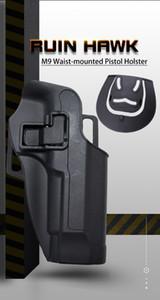 Mão direita tático Beretta M9 M92 Acessórios de Pistola Cintura Escondida Pistola Holster Hunting Shooting Pistol Holster