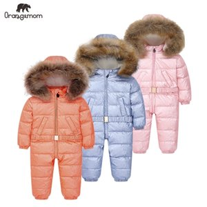-35 graus orangemmom roupas infantil windbreaker bebê crianças jaqueta de inverno para baixo jaqueta casaco para garota meninos roupas 201128