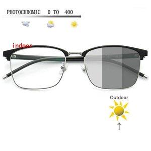 Sunglasses Frames Transition Pochromic Myopia Eyeglasses Finished Glasses For Women Computer Optical FML1