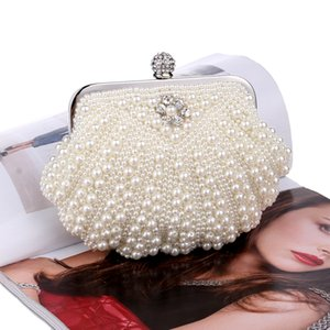 Hot style pearl embroidery ladies fashion pearl banquet bag dress evening wear bag in hand