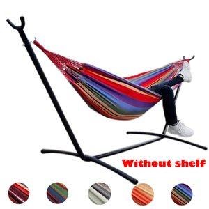 Portable Hammock 1-2 People Outdoor Swing Chair Garden Home Travel Camping Picnic Swing Canvas Stripe Hanging Bed Hammock Z1202
