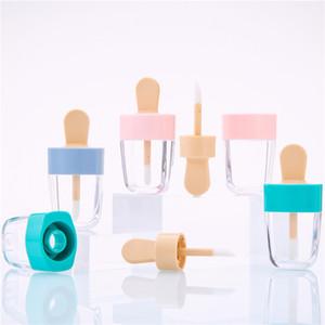 새로운 8ml 아이스크림 립 튜브 빈 분홍색 아이스크림 립글로스 튜브와 지팡이 DIY 립 글레이즈 병 DHA3089