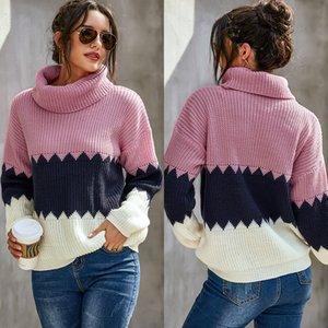 Mode Womens Pull imprimé Casual Cou En haut Manches Longues Manches Longues Tee Designer Warm Womens Vêtements