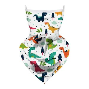 Niños Dibujos animados Mascarilla Cara Triangular Magic Scarf Impresión Animal Cuello Cuello Pagir Sunna Sunanna Unicornio Deporte al aire libre Skull Letra Patines 9ZH D2
