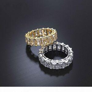 Wong Rain 100% 925 Sterling Silver Created Moissanite Gemstone Wedding Engagement Cocktail Women Ring Fine Jewelry Wholesale CJ191230