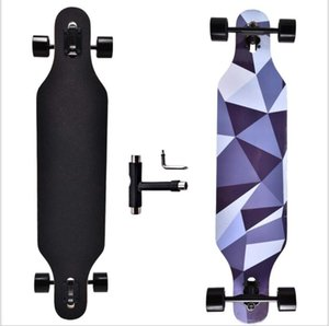 Street long board road skateboard four wheel skateboard dance board speed down board flat skateboard cruiser