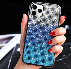 Capas de telefone do diamante do gradiente BLING para o protetor de tampa para o iPhone 12 mini Prox 11 x XS XR XS MAX