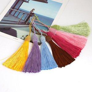 10pcs Polyester Silk Tassels Fringe Pendentif DIY Matériau Cordon Tassels Couper les rideaux à la maison Décor Tassels Tassels Accessoires de ruban H WMTQBX
