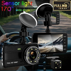 Car DVR Camera HD 1080P 170 Degree Dashcam Video Registrars Cars Night Vision Security G-Sensor Dash Cam Rear View Dual Camera