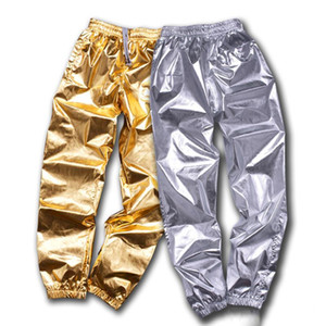 Hip Hop Costumes Gold Silver Loose Pants Men Women Jazz Stage Wear Trousers Adults Street Dance Clothes Large Size 8XL DN5049