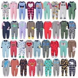 Nouveau Né Bébé à manches longues à manches longues Zipper Jumpsuit Vêtements d'hiver Cartoon 2021 Nouveau-né Garçon Babies Unisex Costume de sommeil 3-12m 201216