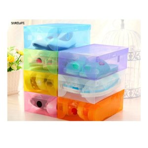 5pcs Children women men Clear Plastic Shoes Storage Box Foldable Drawer Type Box For Women Shoes O bbyVpU