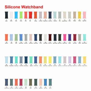 Correa de silicona suave venda de reloj del reloj para la manzana Serie 1 2 3 4 5 6 38 mm 42 mm 44 mm 40 mm para iWatch Band