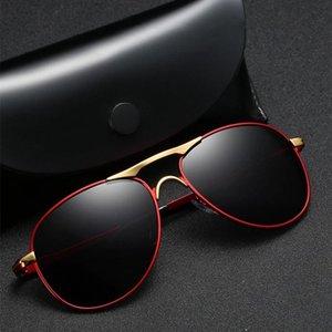Frame Eyeglasses Sunglasses Men Driving Glasses Sun Sunglasses Classic MM105 Metal Pilot Polarized Brand Women Glasses Black Ikfbo