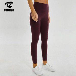 Pantalones de yoga deportivos de color puro, ropa de yoga de fitness para mujer, cintura alta, vigas de piernas, pantalones apretados de fitness, compresión barbie corriendo