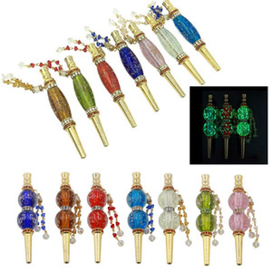 Fashion Handmade Inlaid Jewelry Alloy Glow Hookah Mouth Tips Shisha Chicha Filter Tip Hookah Mouthpiece Tips Wholesale