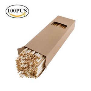 100pcs Wheat Straw eco friendly Biodegradable Drinking straws Ecologica Disposable Drinking Straw 100PCS BOX set