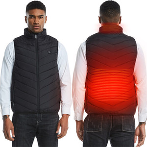 Men Women Outdoor USB Heating Electrical Vest Winter Sleeveless Heated Jacket Cold-Proof Heating Clothes Security Vests Plus size F120202