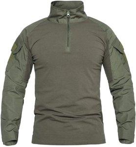Açık T-Shirt Pavehawk Erkekler Ordu Taktik Boy Yürüyüş T-Shirt Swat Savaş Uzun Kollu Kamuflaj Paintball T Gömlek 3XL