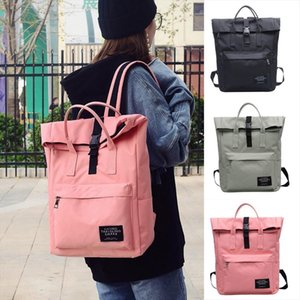 Fashion Womens Pure Color Backpack Nylon Waterproof School Bag Tote Bag Backpack Large Capacity Travel